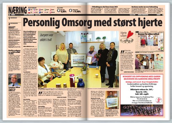 Personlig Omsorg med størst hjerte – byavisa 2. januar 2013