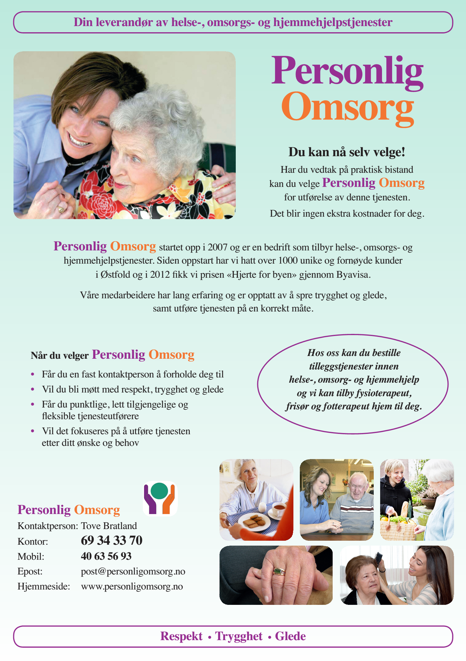 Personlig Omsorg er tjenestegodkjent i Moss (brosjyre)