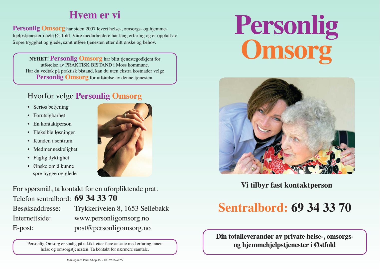 Personlig Omsorg tjenester (brosjyre side1)